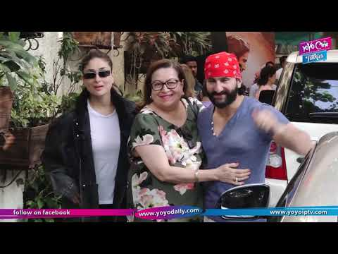 Kareena And Saif Ali Khan Attend Screening Of His Daughter Sara Ali's Kedarnath | YOYO Cine Talkies