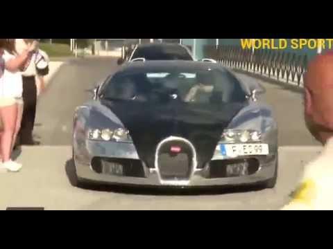 Benzema lució su Bugatti Veyron, el coche más caro