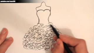 Download video How to draw a wedding dress