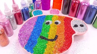 Mixing All Colors Slime Smoothie with Peppa Pig  Learn Colors Rainbow Slime for Kids   Surprise toys