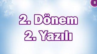 8 Snf Matematik 2 Dnem 2 Yazl Hazrlk CANLI YAYIN