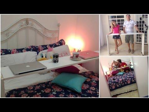 Faça você mesma: Mesa de cama - YouTube