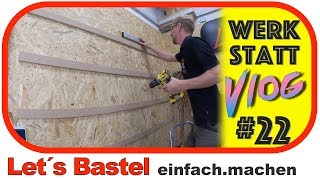 So installierst du eine French Cleat Wand | Lets Bastel