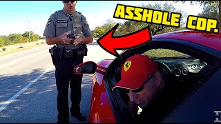 The asshole cop gets his revenge and I get a citation