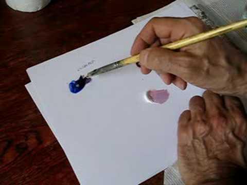 Cours de peinture comment faire du violet youtube - Melange de couleur pour obtenir du beige ...