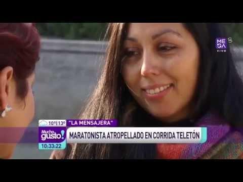 La Mensajera se conecta con maratonista de la teletón 2012