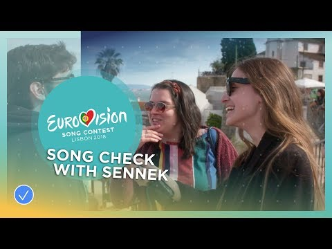 Sennek from Belgium tests her Eurovision song in the streets of Lisbon