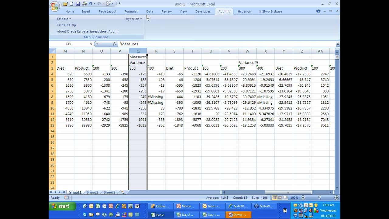 how to add essbase add-in in excel 2013