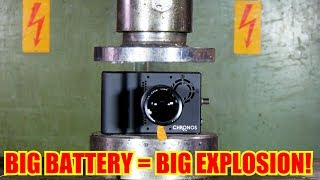 Crushing REAL High Speed Camera with Hydraulic Press