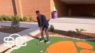 Marty Smith plays basketball, mini golf and whiffle ball in under a minute | SportsCenter | ESPN