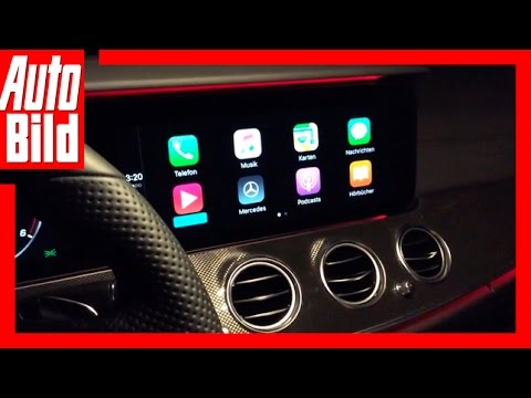 AUTO BILD Quick Shot: Apple CarPlay Im Mercedes E-Klasse T-Modell S213 2016