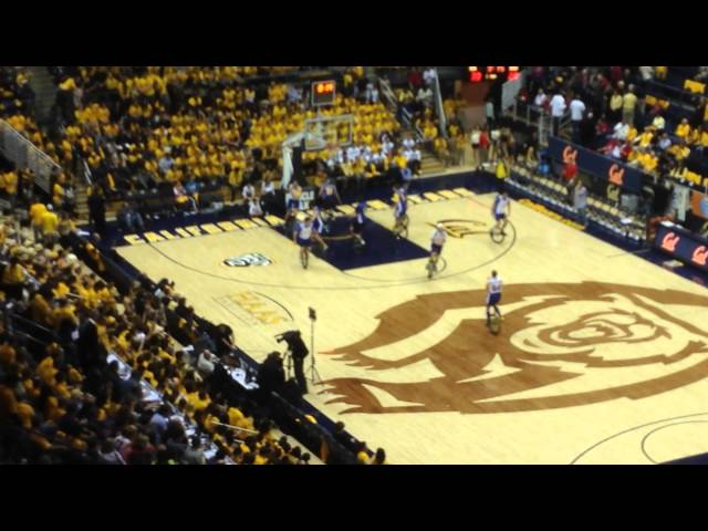 Unicycle basketball at Haas Pavilion
