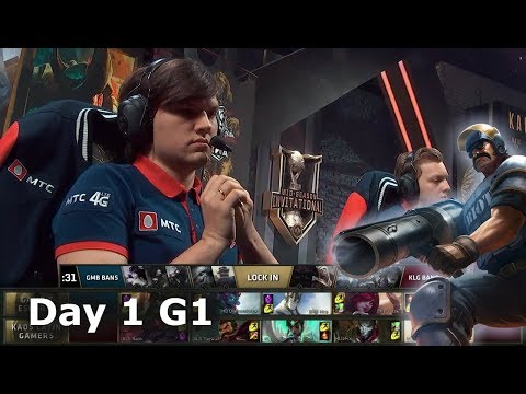 Gambit Esports vs Kaos Latin Gamers | Day 1 LoL MSI 2018 Play-In Group Stage | GMB vs KLG