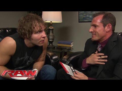 Dean Ambrose undergoes psychological evaluation: Raw, January 12, 2015