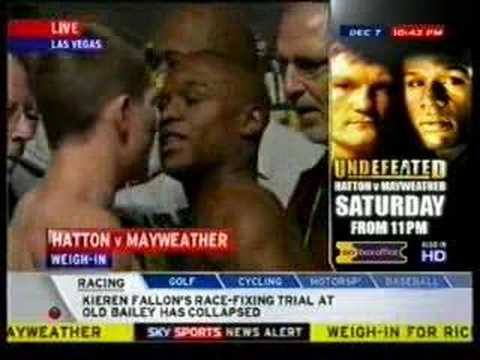 Undefeated: Hatton vs Mayweather Weigh-In 3/3