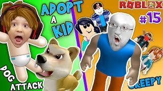 ROBLOX KEUR & VERHOGEN een schattig kind! Hond Aanvallen Baby!