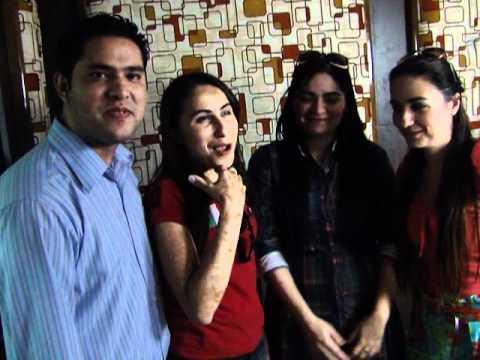 Gislaine e Mylena e Magno e Zaider na radio Nazareno/Cuiabá