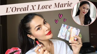 LOREAL x LOVE MARIE COLLECTION (First Impressions + Swatches) • Joselle Alandy