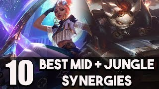 10 Best Mid + Jungle Synergies/Combos To Hard Carry Solo/Duo Queue In League of Legends