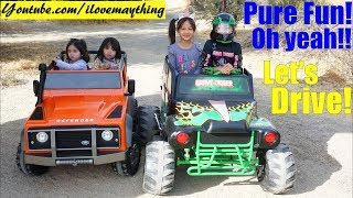 Kids Toy Channel: 24 Volts Power Wheels! 12 Volts Ride-On Car Land Rover Defender. Kids' TOY CARS!