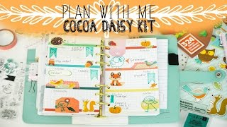 Plan With Me-September Cocoa Daisy Kit | OhSoFawn