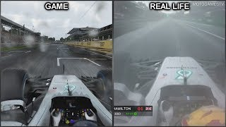 F1 2017 vs Real Life - Monza Onboard Lap Comparison