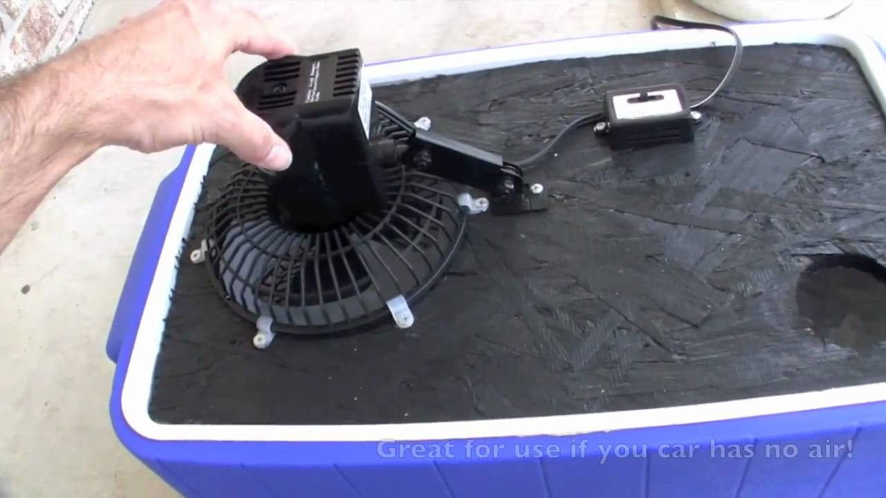 Ice Chest Swamp Cooler Youtube