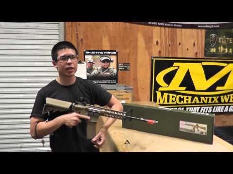 Airsoft GI Uncut - G&G GR15 Raider Carbine Electric Blow Back AEG Airsoft Gun (Desert)