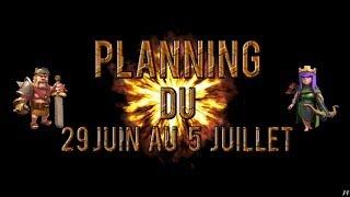 Planning vidéo du 30 au 5 juillet + 2 nouvelles séries