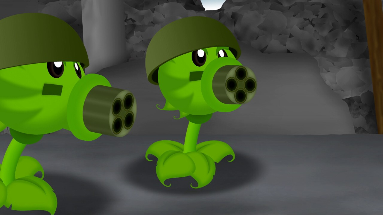 Plants vs Zombies Test Animation 2 MEGA-MORPHOSIS