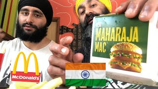 BIG MAC Maharaja Burger McDonalds FOOD Review INDIA! GYM SINGH TALKS #13
