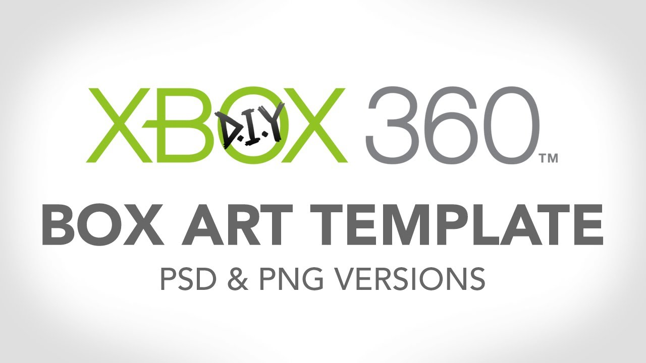 Xbox One Game Case Template Xbox 360 Template - Make Your