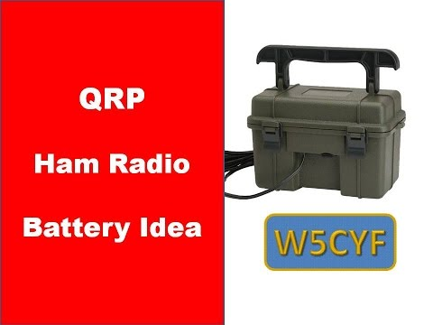 QRP Ham Radio Battery Idea