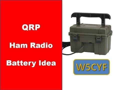 QRP Ham Radio Battery Idea