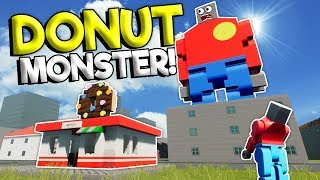 LEGO DONUT MONSTER POLICE MYSTERY! - Brick Rigs Roleplay Gameplay - Lego Police Chase