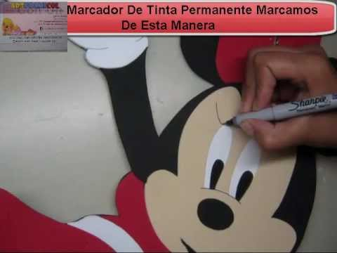 Moldes de Minnie Mouse jumbo - Imagui
