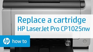 Replacing a Cartridge - HP LaserJet Pro CP1025nw Color Printer