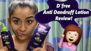 D'free Anti Dandruff Lotion Review + Giveaway winner!