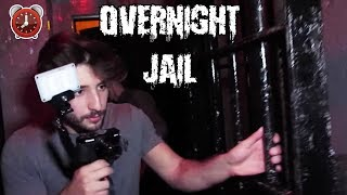 OVERNIGHT CHALLENGE IN A JAIL CELL! | LOCKED IN A JAIL CELL OVERNIGHT BUT WE ESCAPED!