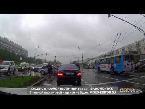 Эпичное ДТП Алтуфьевское шоссе 20.05.16