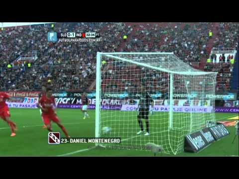 Gol de Montenegro. San Lorenzo 0 - Independiente 1. Fecha 12. Primera Divisi�n 2014. FPT