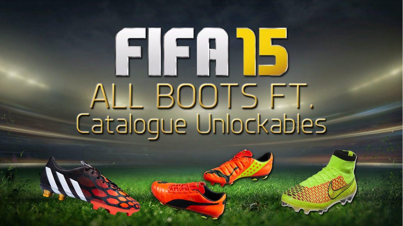 All FIFA 15 Boots Ft. EAS FC Catalogue Unlockables - YouTube