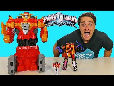 Power Rangers Ninja Steel Lion Fire Fortress Zord ! || Toy Review || Konas2002