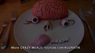 Eating BRAIN & EYEBALLS for Halloween!!!  Kluna Tik Dinner #37   ASMR eating sounds no talk