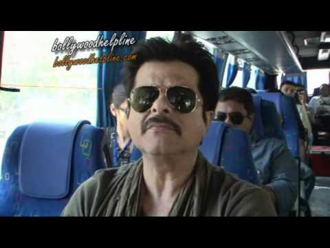 Anil,ajay And Sameera On Bus To Promote Film Tezz video
