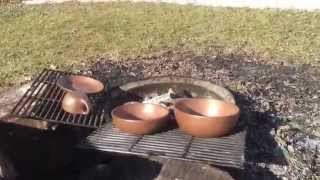 backyard pottery firing