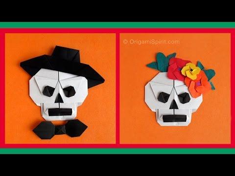 Origami Skull -Sugar Skull : : Calavera en origami