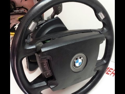 BMW E66 745 750 Steering Wheel Airbag Removal e65