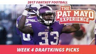 2017 Fantasy Football: Week 4 DraftKings Picks Preview & Sleepers