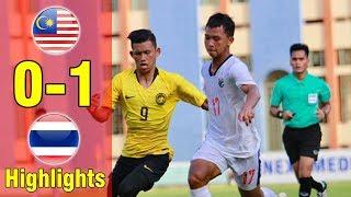 Highlight U18 Malaysia 0-1 U18 Thailand| Giành CHIẾN THẮNG DANH DỰ, Thái lan khiến Malay TOÁT MỒ HÔI